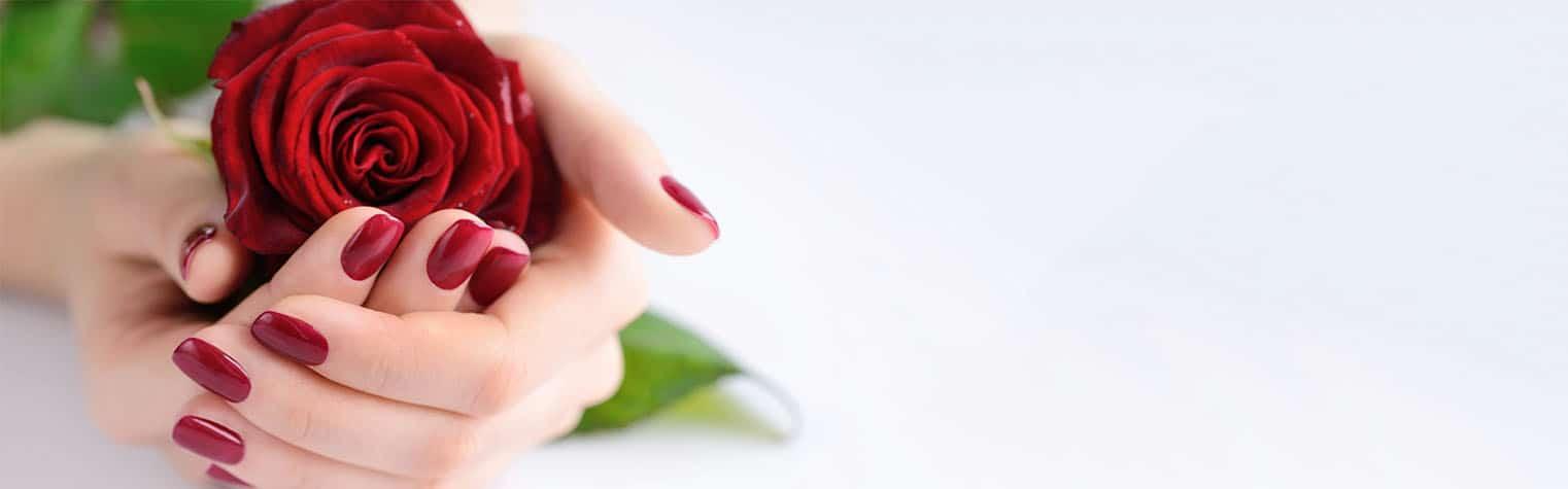 Fingernägel mit Rose