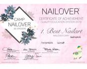 Best-Nailart-Nailover 2019 1. Platz Gelmalerei – Holz Effekt