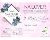 Best-Nailart-Nailover 2019 2. Platz Gelmalerei – Blumen Malerei